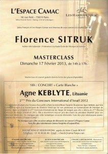 Florence Sitruk et Agne Keblyte à l'Espace Camac, dimanche le 17 février 6a00d8341d450753ef017d408320be970c-212x300